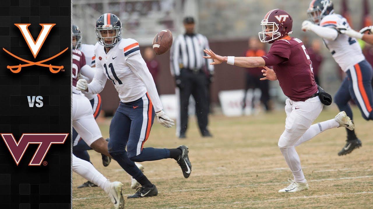 Virginia Vs Virginia Tech Football Highlights 2018