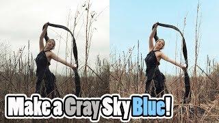 Gökyüzü Mavi Yapmak için Nasıl Hızlı ve Kolay Adobe Photoshop CC Öğretici: Nasıl