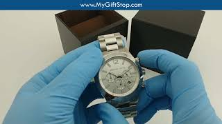Michael Kors MK8209 Dylan Chrono Silver Dial Men's Watch Video