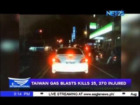Taiwan gas blast kills 25, injures 270