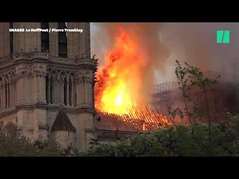 Notre-Dame: de nouvelles images par drone montrent les ravages du feu