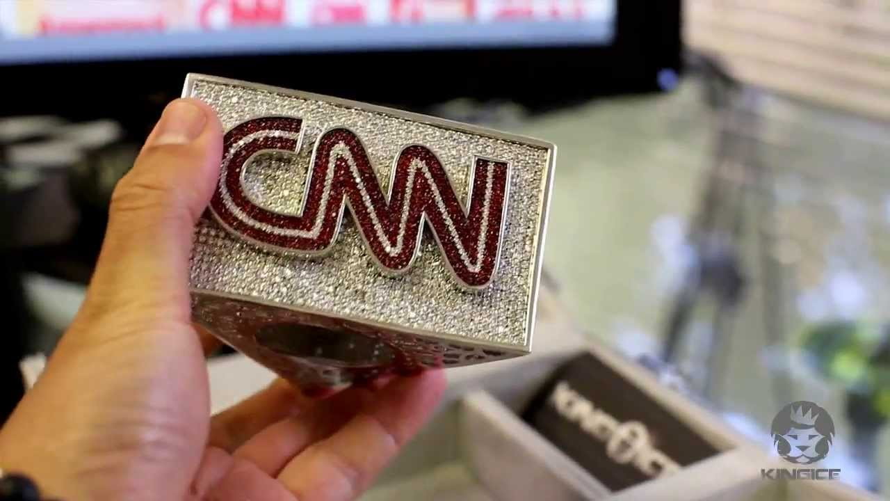 CNN Custom Mic Flag By King Ice | CNN Breaking NEWS ...