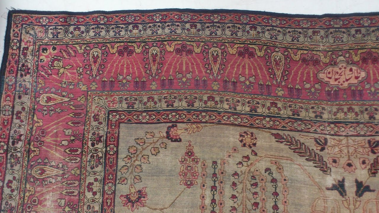 Limpieza de alfombra persa antigua kerman tavshanjian 2 - Limpieza de alfombras persas ...