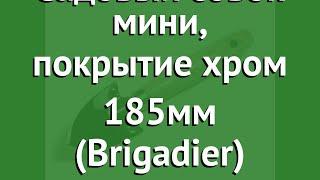 Садовый совок мини, покрытие хром 185мм (Brigadier) обзор 81050