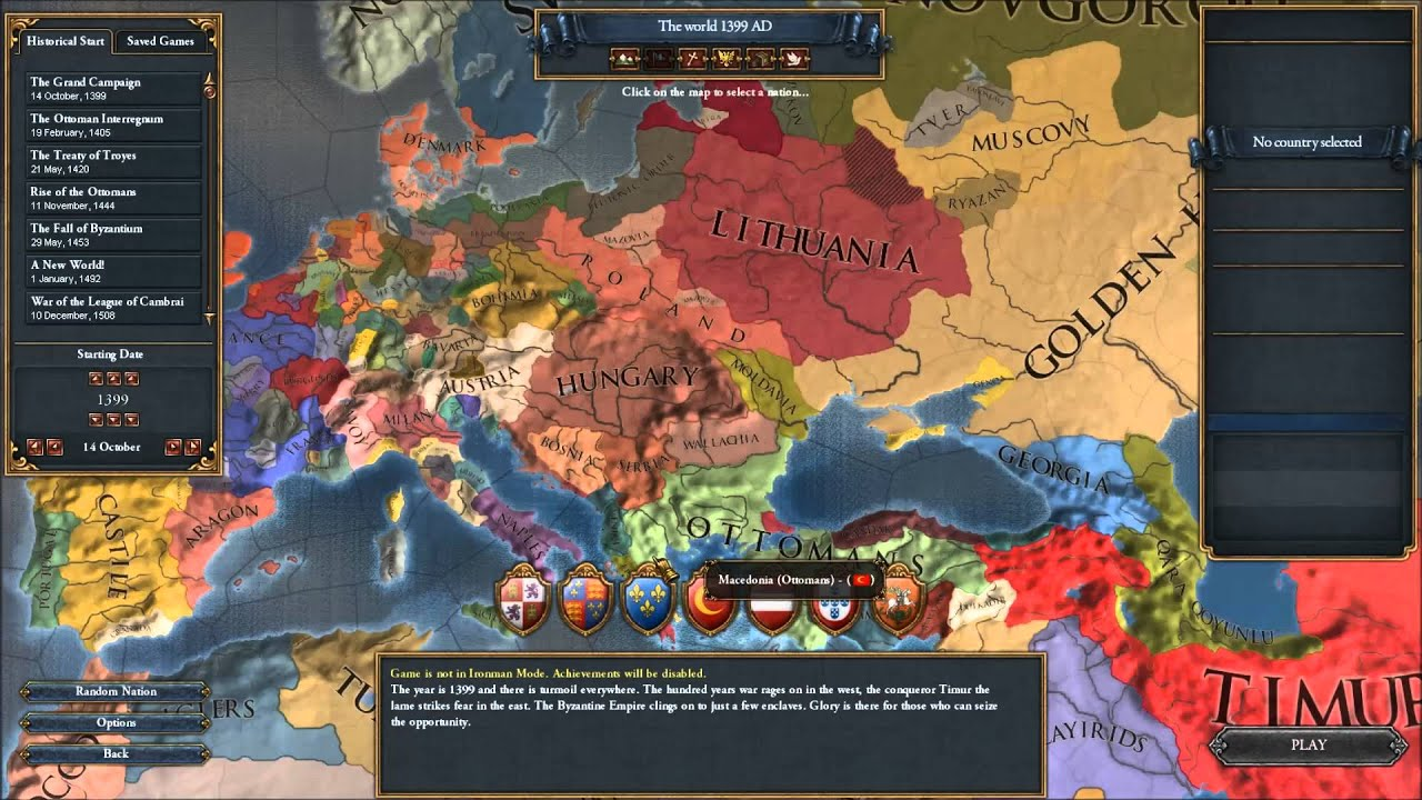 IUShowcase Europa Universalis IV 1399 Mod