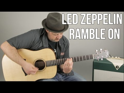 "How To Play ""Ramble On"" By Led Zeppelin On Guitar - Guitar Lesson, Tutorial"