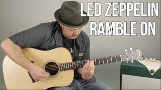 """How to Play """"Ramble On"""" by Led Zeppelin on Guitar - Guitar Lesson, Tutorial"""