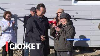 В селе Бясь-Кюель состоялась передача ключей от первого дома возведенного после лесного пожара