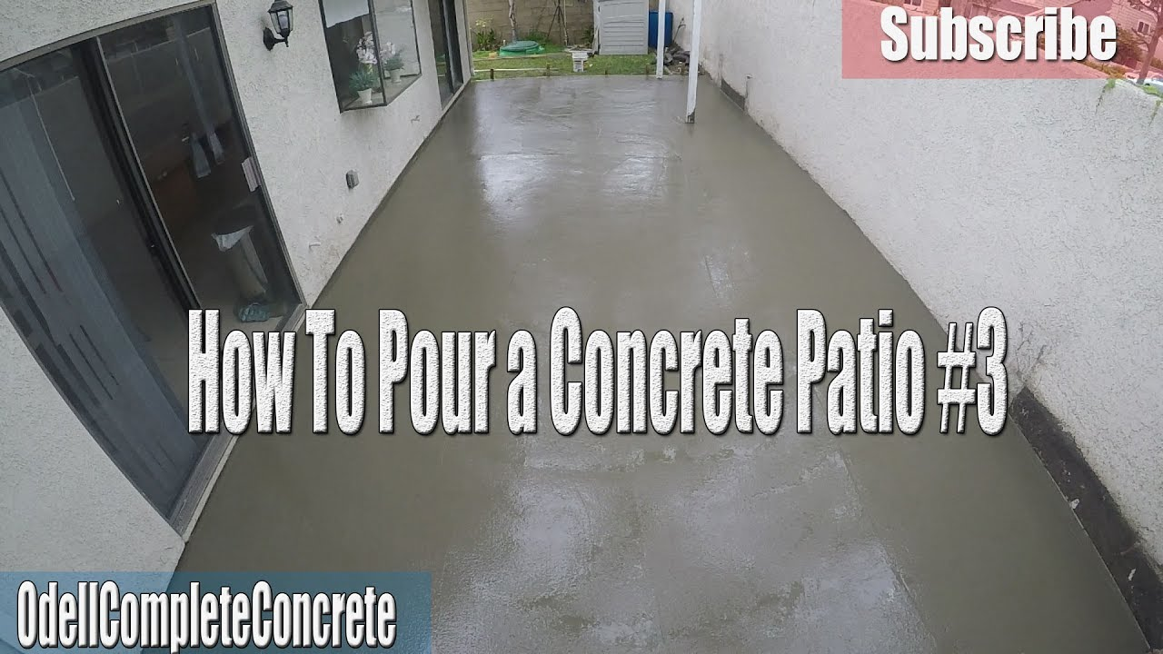 how to setup and pour a concrete backyard patio diy 3 youtube