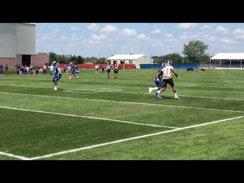 Odell Beckham Jr. participating in Giants practice