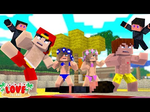 LOVE ISLAND IS ATTACKED BY A SECRET ASSASSIN - Minecraft LOVE ISLAND