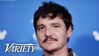 "Pedro pascal, star of the disney plus show ""the mandalorian,"" said it was overwhelming to know he joining wars universe. geeked out o..."