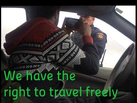 we all have the right to travel ! - California sheriff lets me travel without license or plates!