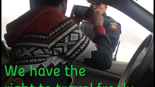 we all have the right to travel california sheriff lets me travel without license or plates