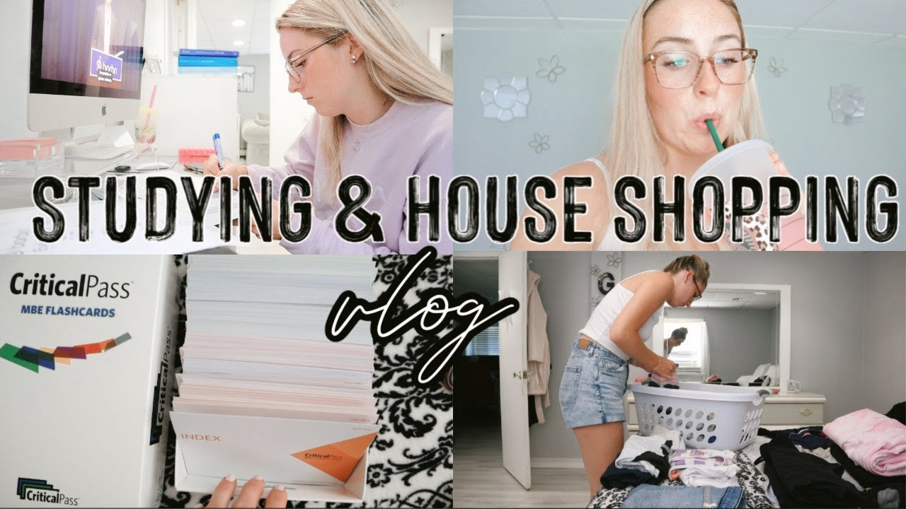 PRODUCTIVE DAY IN THE LIFE | STUDYING FOR THE BAR EXAM, TARGET SHOPPING, WORKOUT WITH ME