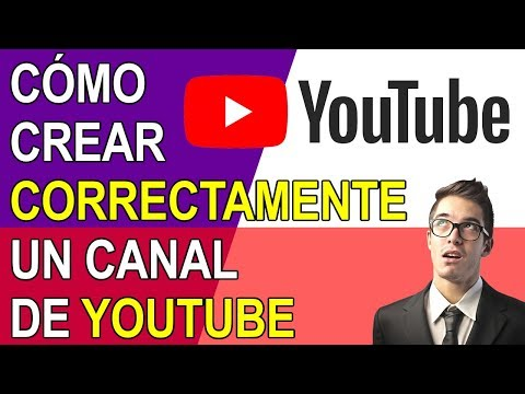 COMO CREAR CORRECTAMENTE UN CANAL DE YOUTUBE 2019 (PASO A PASO) - 동영상