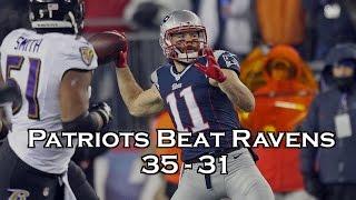 N. E Patriots Tom Brady Beat Baltimore Ravens 35-31 in AFC playoff