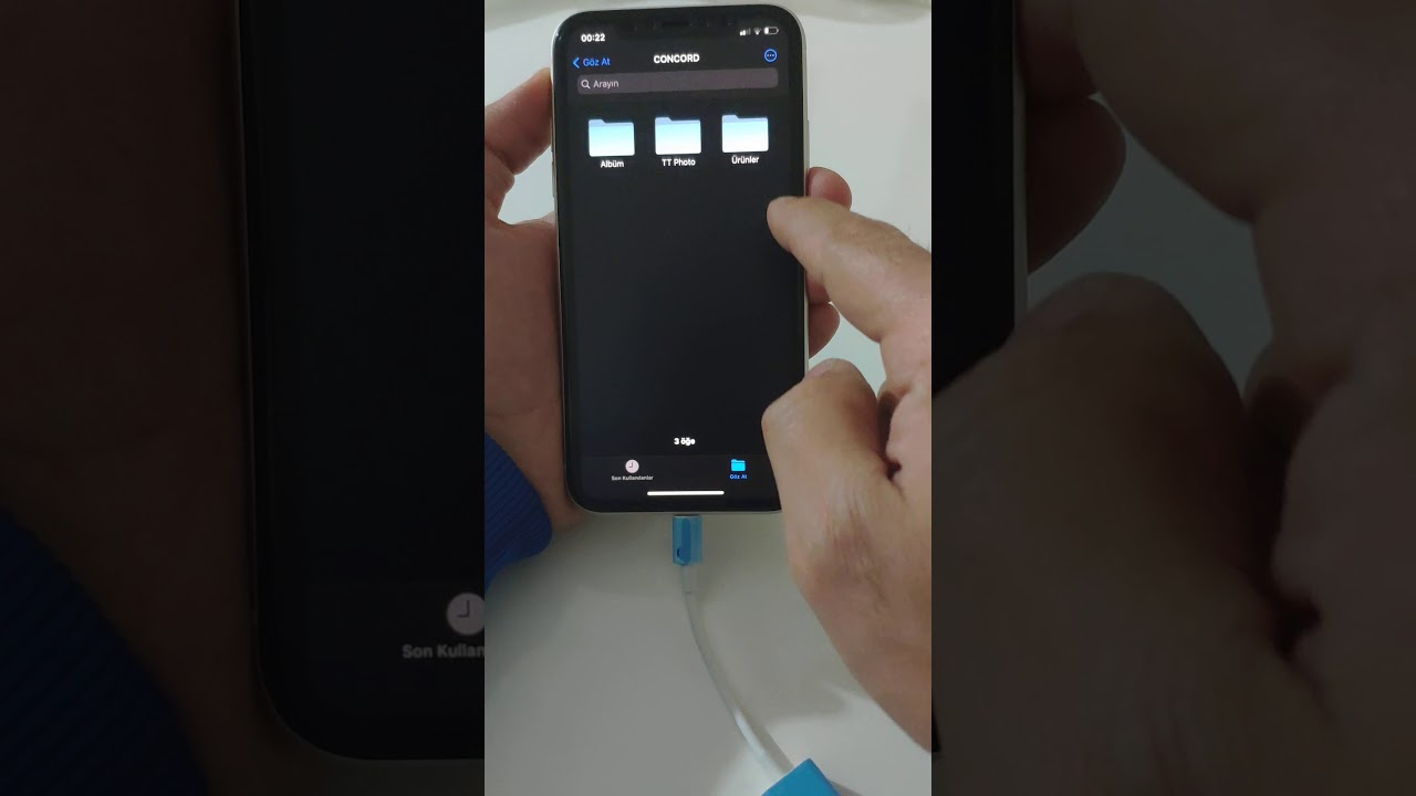 İphone OTG Kablosu - Lightining OTG - Tak Çalıştır - Concord