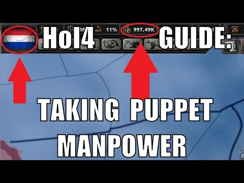 Hearts of Iron 4 Guide: Taking Puppet Manpower