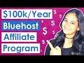 Affiliate Marketing For Beginners - Bluehost Affiliate Program