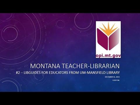 Montana Teacher-Librarian Digital Blast Dec 2015