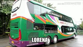Lagu juragan empang versi nama-nama bus Indonesia..