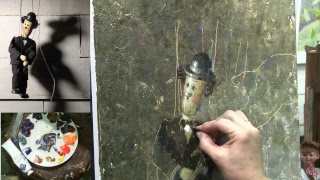 Вебинар живописи Чарли Чаплин. Марионетка