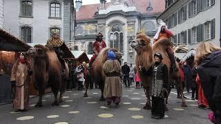 ラクダに乗る三賢者とクリスマスソング Biblical Magi camel caravan 2016 1216