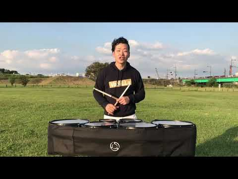 "【VaNiLLa】System Blue Marching Tenor Drum ""TENOR HEX"" レビュー&試奏動画【Kazuki】"