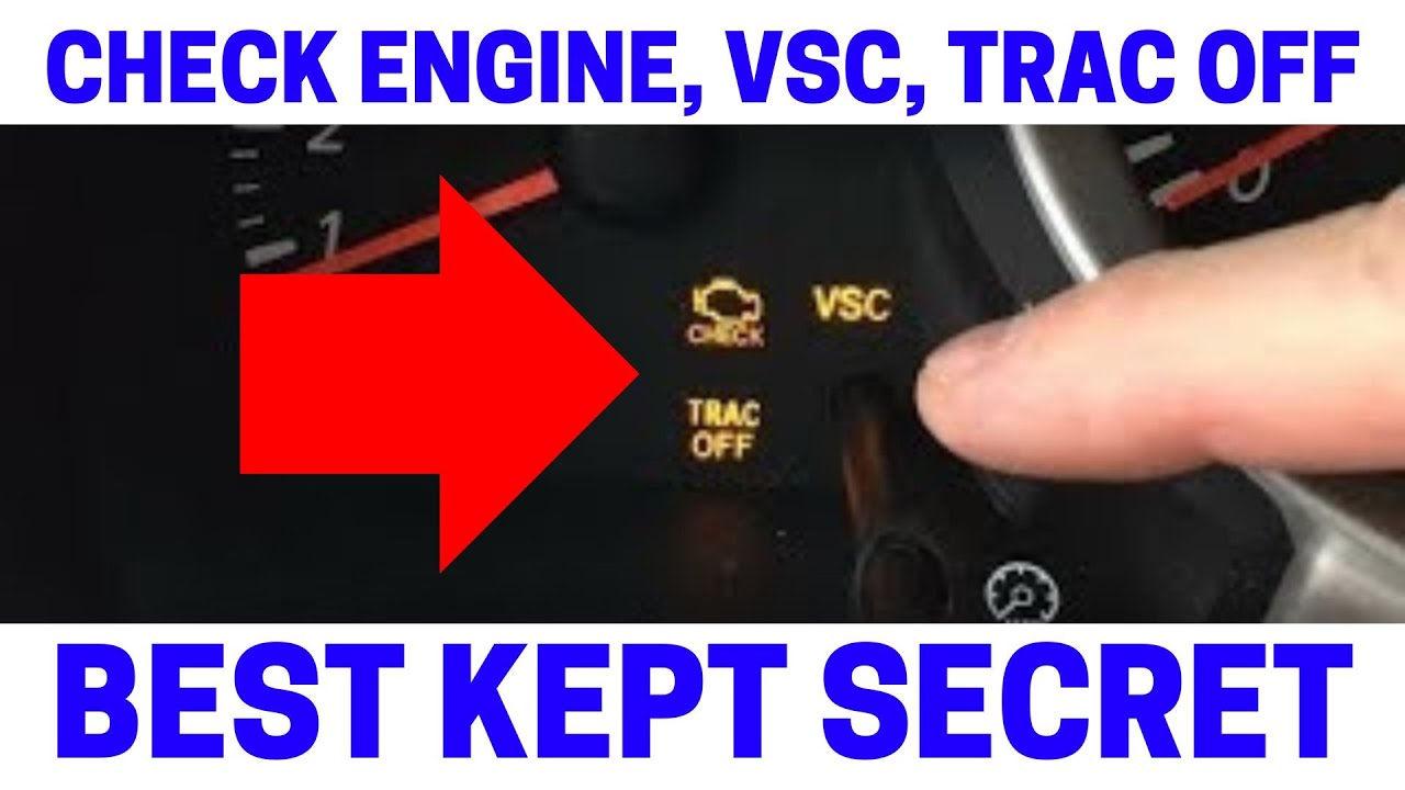 (Part 5) How To Fix Your Check Engine, VSC, Trac Off Warning Lights On