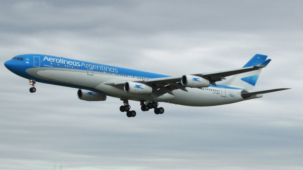 Resultado de imagen para A340 aerolineas argentinas Barcelona