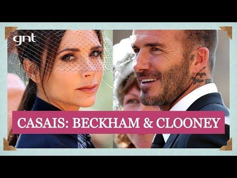 David Beckham e Victoria + George Clooney e Amal: casais chegam a Windsor   Casamento Real