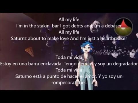 Gorillaz- Saturnz Barz (Lyrics y Traducción) - YouTube