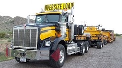 Close-Up Look At A Precision Heavy Haul Rig And Heavy Oversize Load