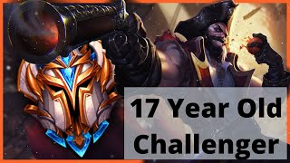 why has this 17 Year Old Gangplank Player reached Top 50 Challenger last 2 Seasons?