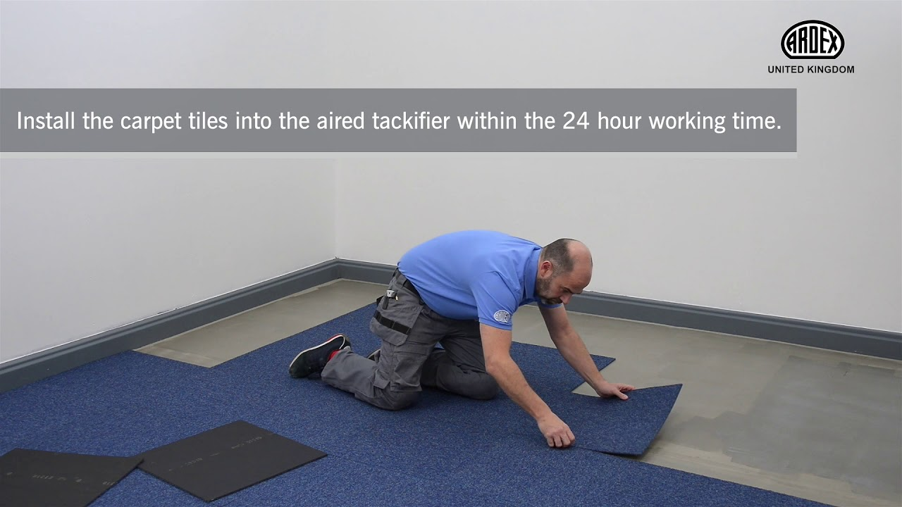 Fit Carpet Tiles with ARDEX AF 825 Surface Tackifier