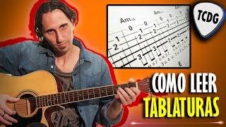Aprende Fácil Como Leer Tablaturas de Guitarra Acústica! Tutorial para principiantes TCDG