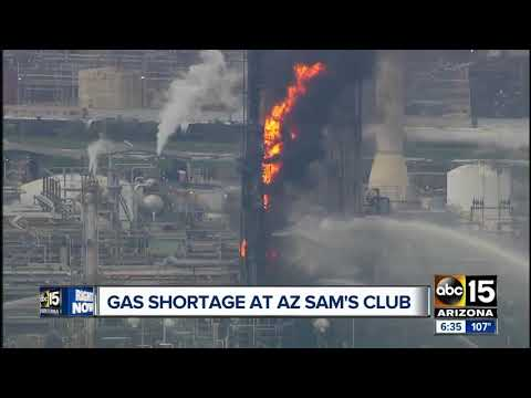 Texas Oil Refinery Fire Causes Arizona Sam's Clubs To Close Their Gas Stations