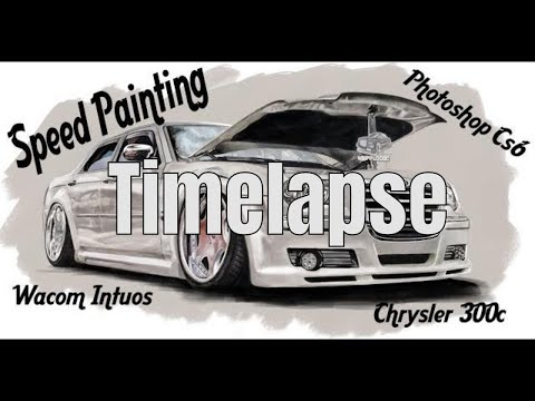 Digital Painting Timelapse Chrysler 300c with Wacom Intuos Tablet on Photoshop Cs6