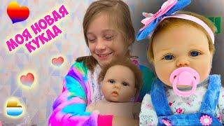 Моя первая КУКЛА РЕБОРН девочка - Ева Получила посылку из Китая РЕБОРНА видео