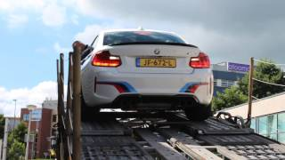 bmw m2 f87 coupe from an m performance body kit and sound acceleration