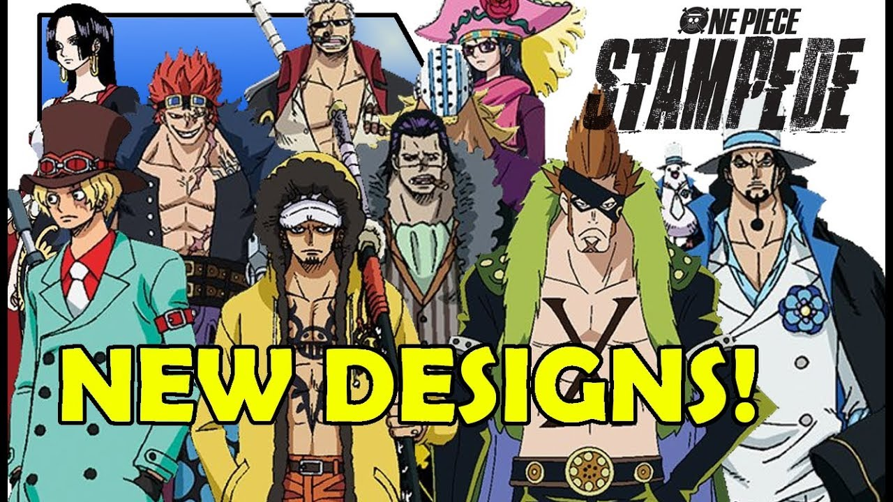 One Piece Stampede Law, Sabo, Lucci, Crocodile and MORE NEW DESIGNS/OUTFITS!