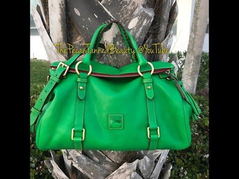Dooney Bourke Bag Of The Day Medium Florentine Satchel Kelly Green