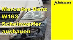 Scheinwerfer Leuchteinheit ausbauen wechseln | Mercedes Benz W163 ML-Klasse