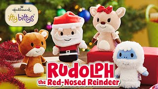 Christmas Toys Rudolph the Red Nosed Reindeer and Santa Claus Hallmark Itty Bittys Plush Dolls