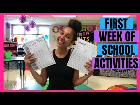 First Week Of School Activities In Kindergarten!!!!!