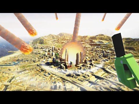 I'm Calling Down a Meteor ARMAGEDDON on GTA V Map (Teardown Mods)  