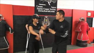 Gemmlayn Crosby with Ray Dionaldo Filipino Martial Arts #FCS