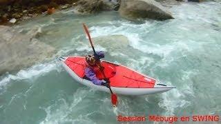 Test des kayaks gonflable Swing Gumotex dans les Hautes Alpes