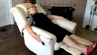 Кожаное финское кресло Релакс с электрическим реклайнером.(, 2016-08-17T10:35:07.000Z)